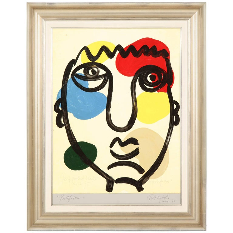 Painting by Peter Keil, C 1975 For Sale
