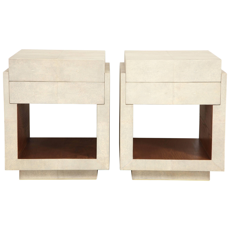 Shagreen Bedside Tables Or Side Tables