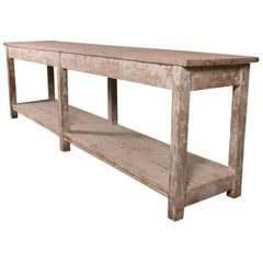 19th Century French Painted Oak Serving Table