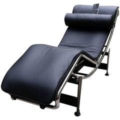 """Lounge Armchair """"LC4"""" Le Corbusier Cassina, Black"""