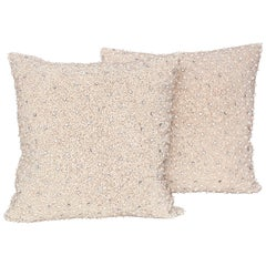 Pair of Pearl and Rhinestone Embellished Pillows