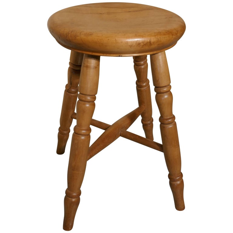 Victorian Elm Farmhouse Kitchen Stool For Sale At 1stdibs