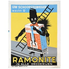Vintage Ramonite Chimney Sweep Poster, circa 1920