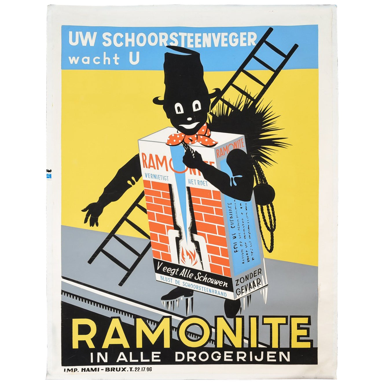 Vintage Ramonite Chimney Sweep Poster, circa 1920