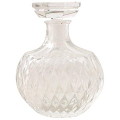 Lalique France Cut Crystal Perfume Decanter Bottle-Signed