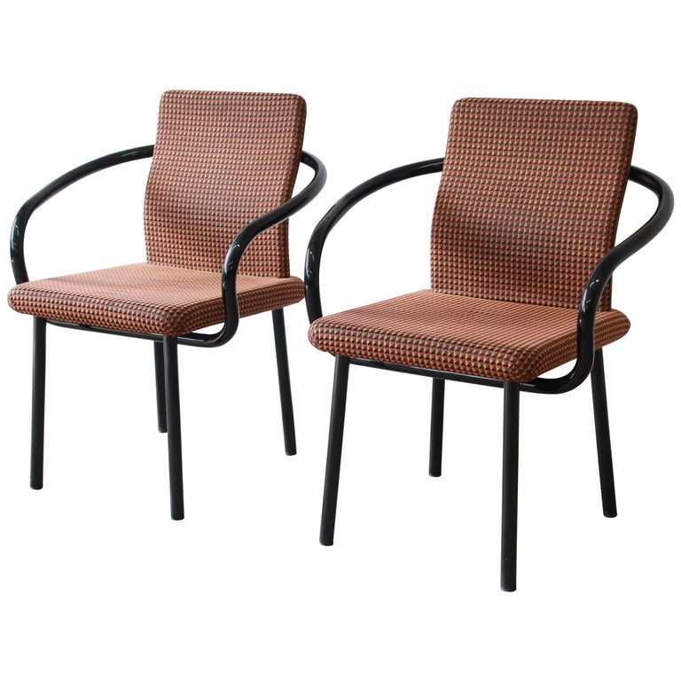 Ettore Sottsass for Knoll Mandarin Armchairs, Eight Available