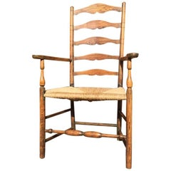 A Cotswold School Arts and Crafts Ash Armchair Attributed to Edward Gardiner