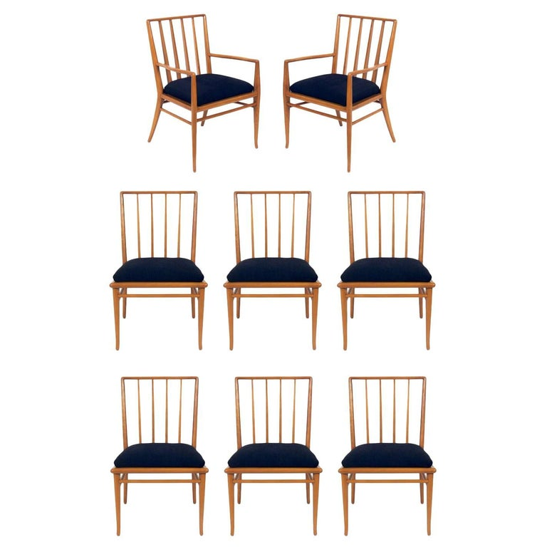 Set of Eight Dining Chairs by T.H. Robsjohn-Gibbings