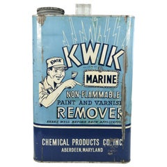 Giant Advertising Trade Sign of a Kwik Paint Remover Can