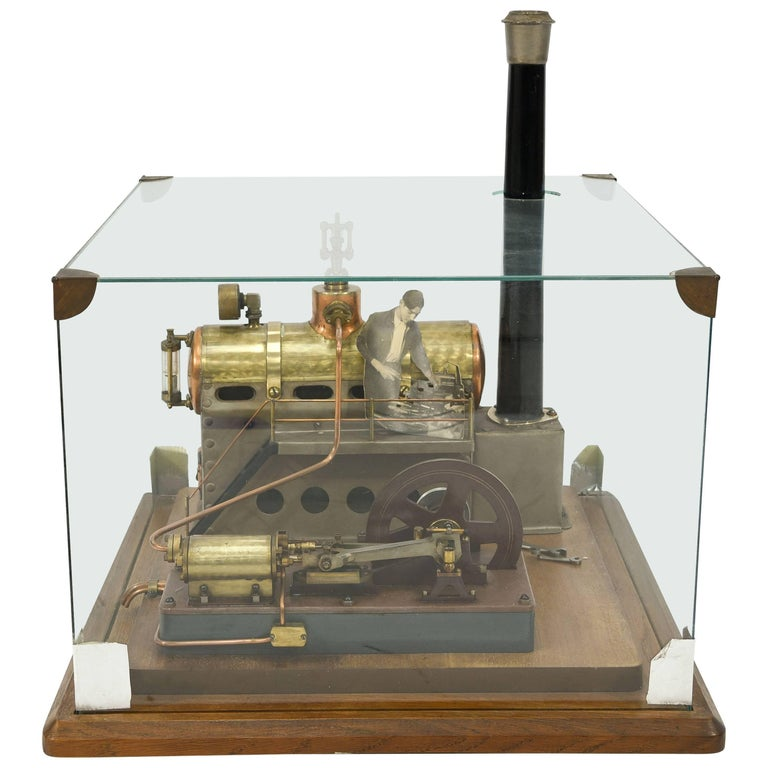 French Industrial Steam Engine Model, circa 1950s