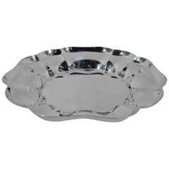 Cartier Modern Sterling Silver Scalloped Bowl