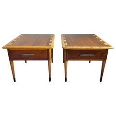 Mid-Century Modern Lane Acclaim End Tables, Pair