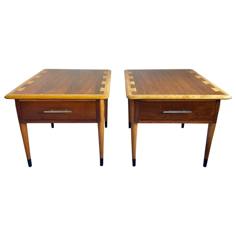 Mid Century Modern Lane Acclaim End Tables Pair For Sale At 1stdibs