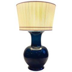 Vintage Jean Roger Blue Glazed Ceramic Lamp _SALE_