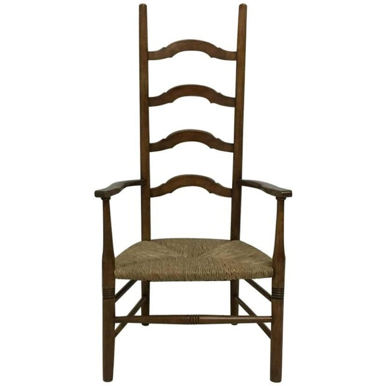 best website cffbf 90d5b Liberty and Co., a High Back Nursing or Bedroom Ladder Back Armchair