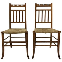 E A Taylor Attributed, Seven Side or Bedroom Chairs by Wylie & Lochhead