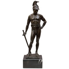 Powerful Semi-Nude Bronze Warrior