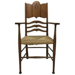 William Birch, an Arts & Crafts Oak Armchair in the Style of George Walton