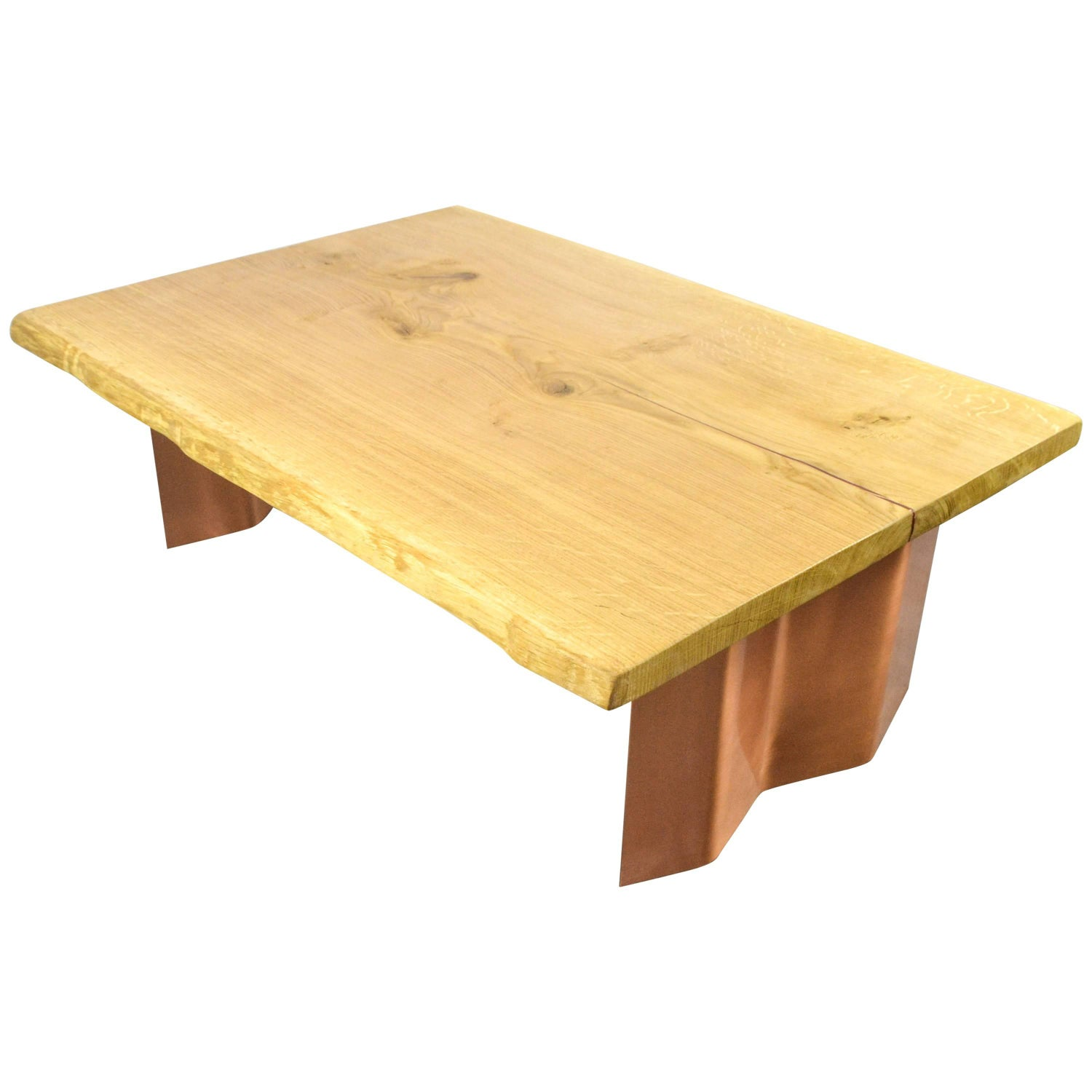 Sentient Folded Maple Slab Live Edge Coffee Table with Driftwood
