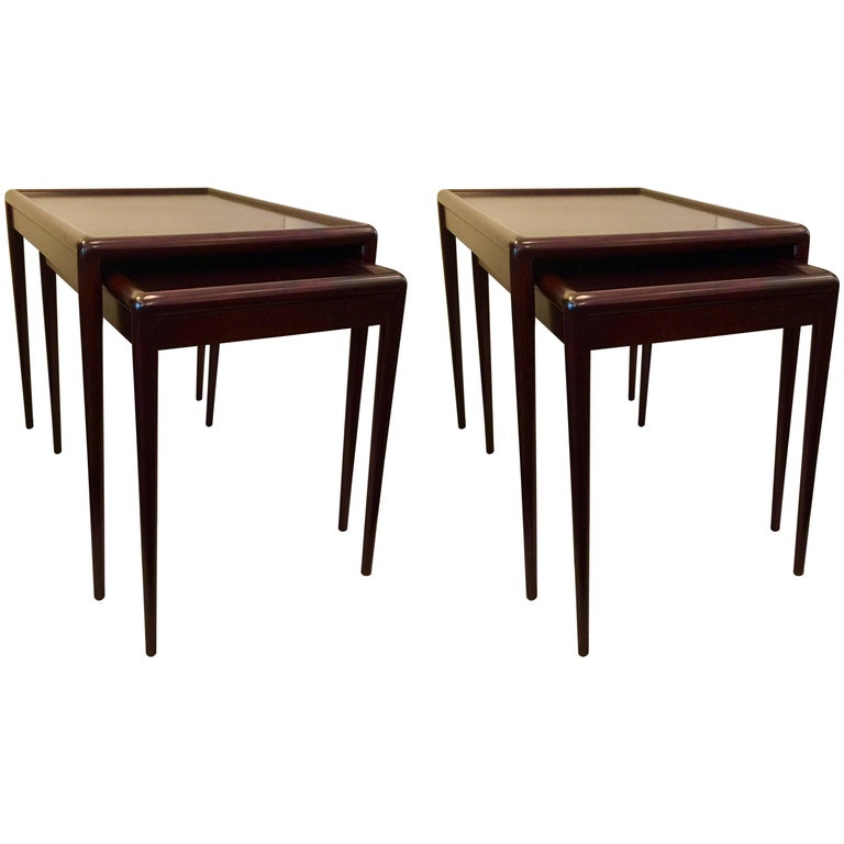 A Set of Two Pairs of Nesting Tables by T.H. Robsjohn-Gibbings for Widdicomb