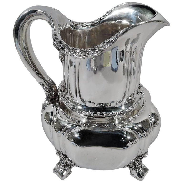 Tiffany Chrysanthemum Sterling Silver Water Pitcher For