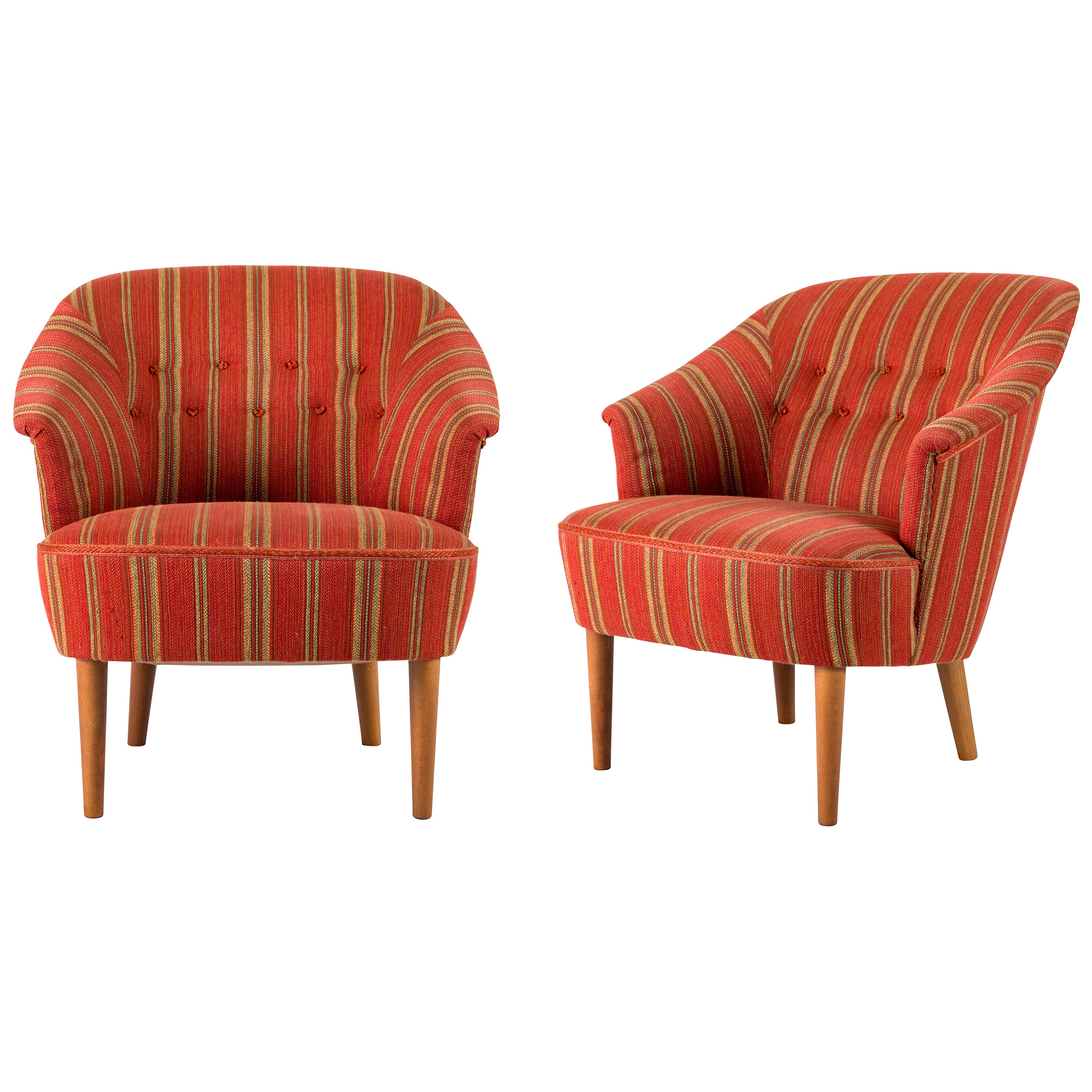 """Pair of Carl Malmsten """"Lillasyster"""" Lounge Chair"""