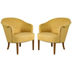 Pair of Carl Malmsten Lounge Chair