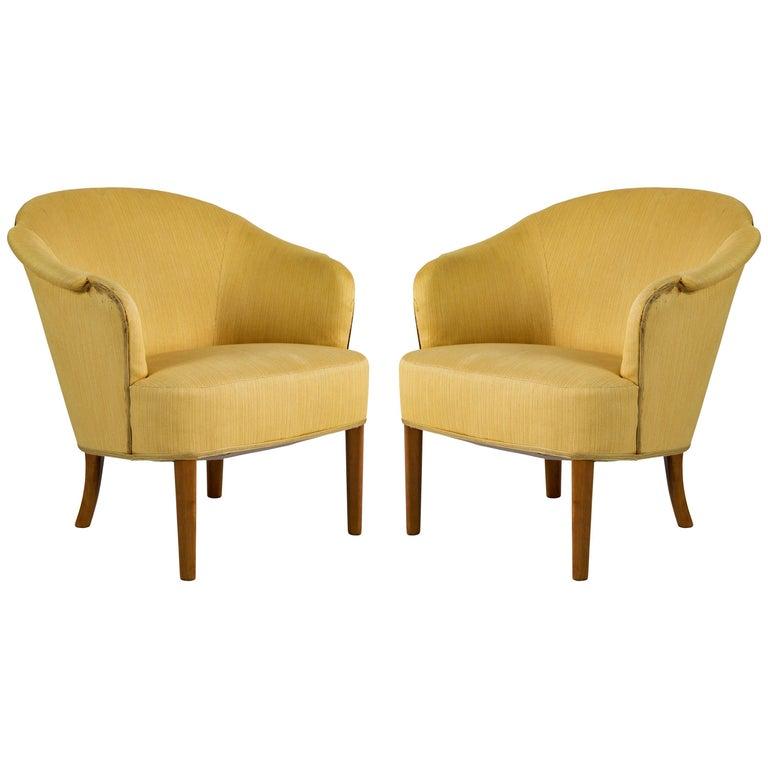 Pair of Carl Malmsten Lounge Chair