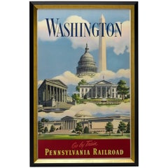 Washington D.C. Vintage Pennsylvania Railroad Poster, circa 1935