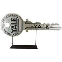 Giant Yale & Towne Co. Litho on Metal Key Trade Sign