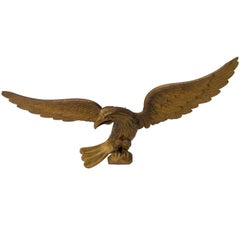 American Eagle, Hand-Carved, Wooden and Gilt Specimen, circa Early 20th Century