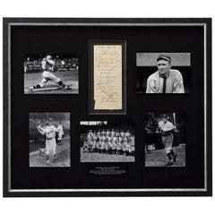 1929 Washington Senators Baseball Team Autographed Collage