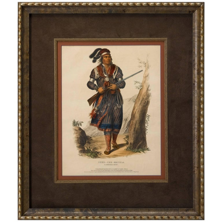 Tuko-See-Mathla, a Seminole Chief, Hand-Colored Litho by McKenney & Hall, 1836