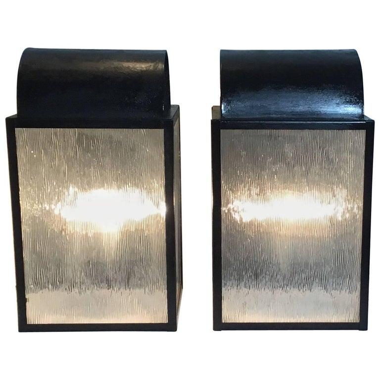 Pair of Vintage Wall Lanterns