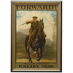 Forward! to Victory, Enlist Now WW I British Recruitment Poster, circa 1915