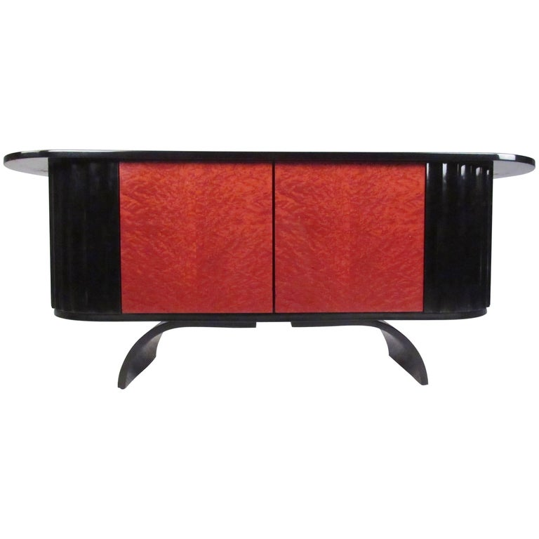 Modern Art Deco Lacquered Credenza For Sale