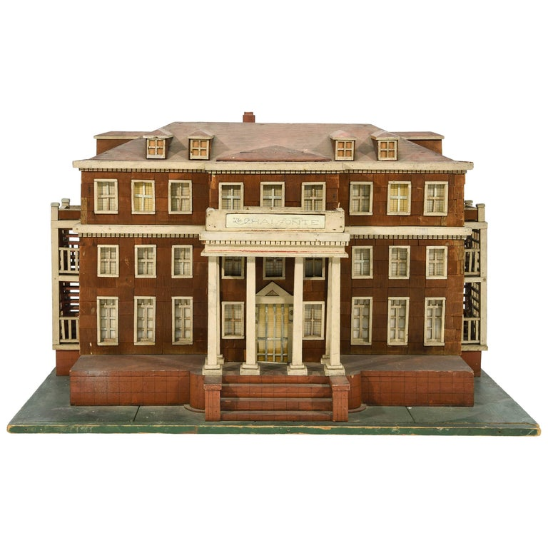 Large wooden architectural house model for sale at 1stdibs for Architecture models for sale