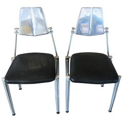 Robert Josten Pair of Aluminum Chairs
