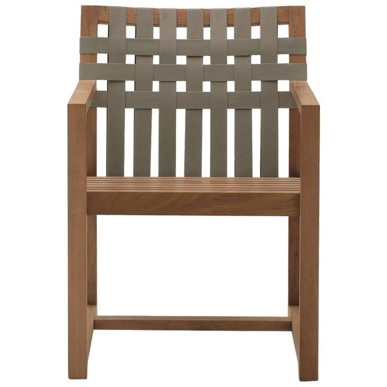 Network 159 Outdoor Teak Dining Armchair For Sale