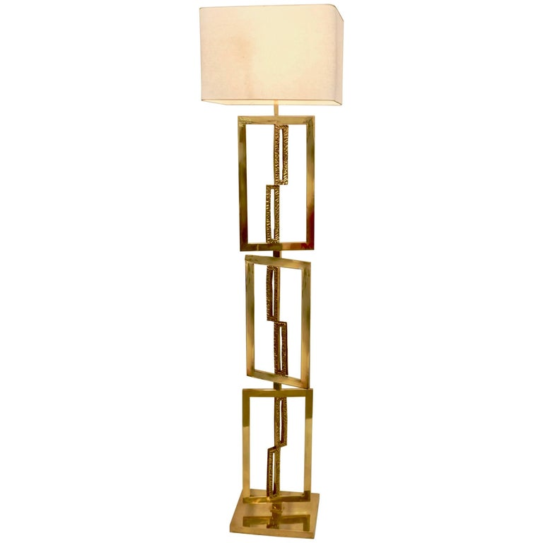 Italian design contemporary cast bronze and gold brass rectangular italian design contemporary cast bronze and gold brass rectangular floor lamp 1 aloadofball Images