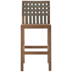 Roda Network 150 Teak Outdoor Barstool
