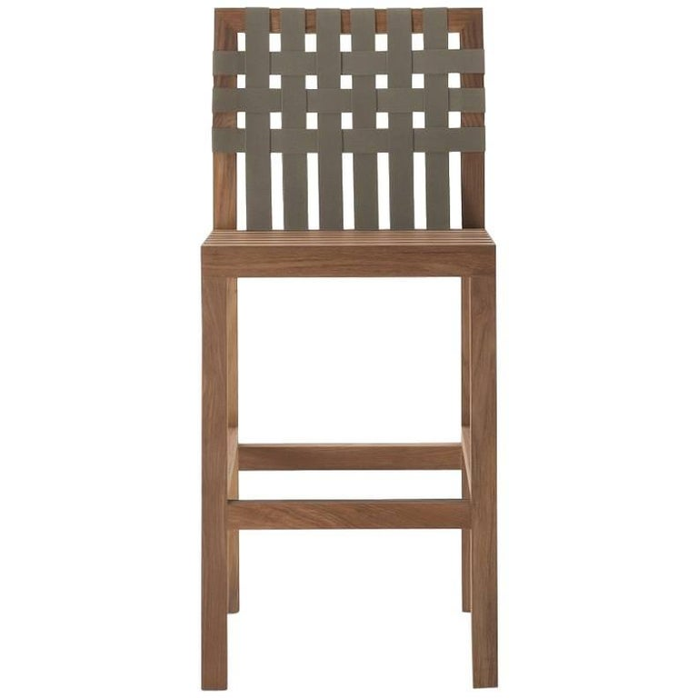 Roda Network 150 Teak Outdoor Barstool For Sale