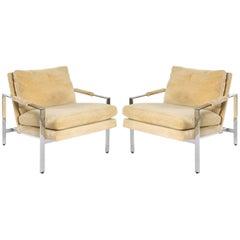 Milo Baughman Chrome Chairs