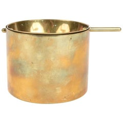 Rare Limited Brass Cylinda-Line Ashtray by Arne Jacobsen for Stelton