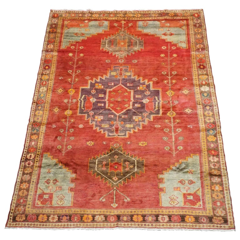 Antique Cotton Agra Rug With Abrash Circa 1900 For Sale: Persian Antique Lori Serapi Rug, Circa 1940 For Sale At