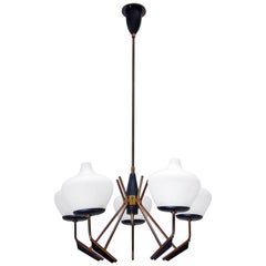 Italian Five-Shade Petite Chandelier