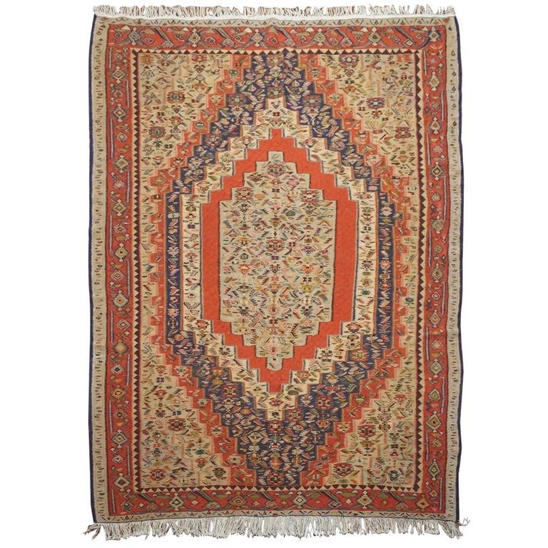 Spectacular Persian Senneh Kilim For Sale At 1stdibs