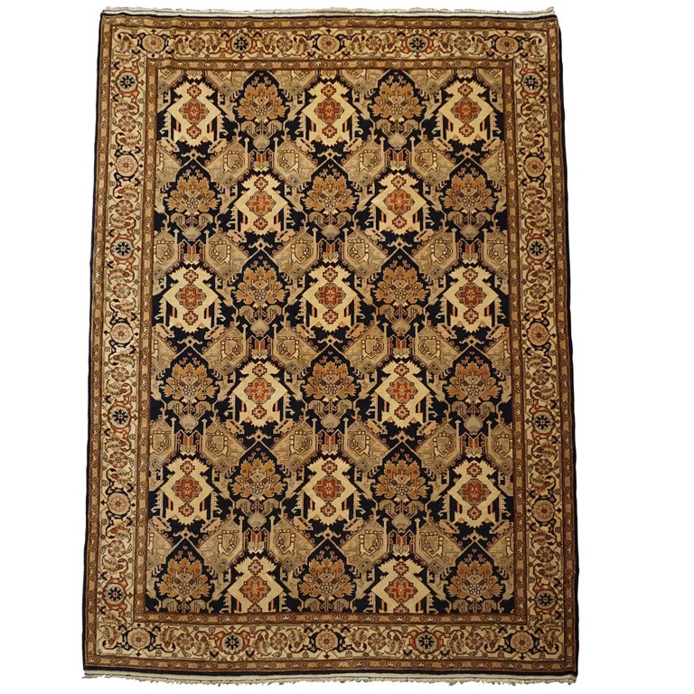Persian Farahan Fine Hand Knotted Wool Rug Circa 1970 For Sale At