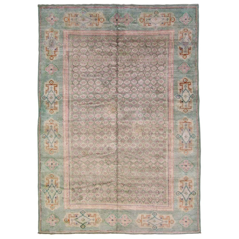Antique Cotton Agra Rug With Abrash Circa 1900 For Sale: Antique Indian Agra, Circa 1930 Cotton Rug For Sale At 1stdibs