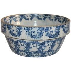Sponge Ware Pottery or 19th century Bean Pot